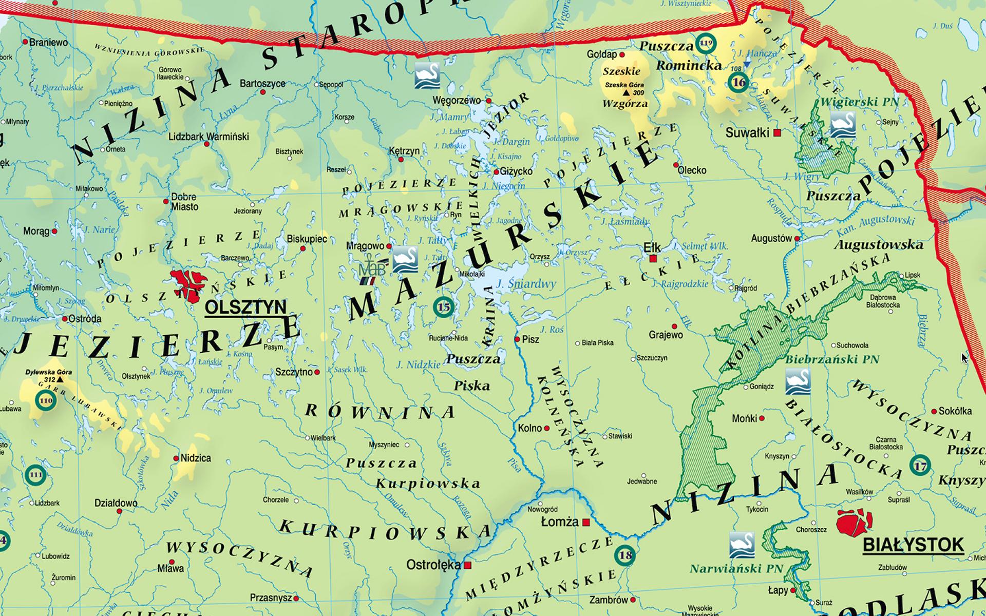 MR GE 083 Mapa Fizyczna Polski frag1