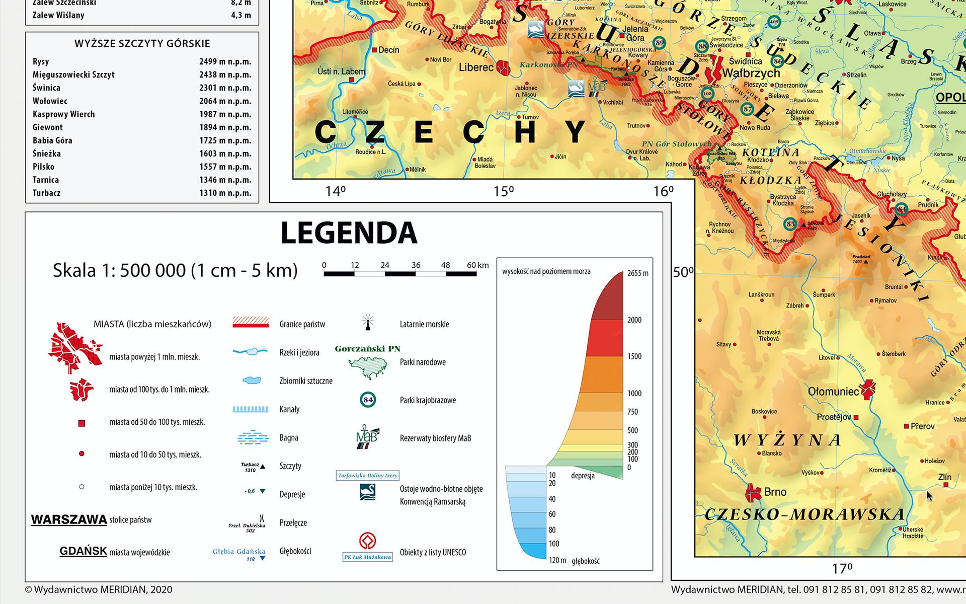MR GE 083 Mapa Fizyczna Polski frag2