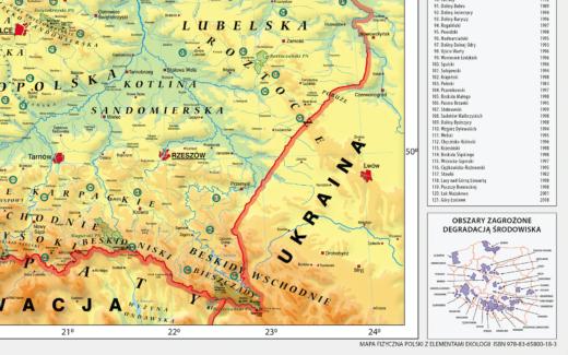 MR GE 083 Mapa Fizyczna Polski frag3
