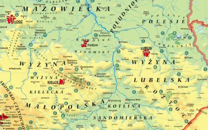 MR GE 083 Mapa Fizyczna Polski frag4