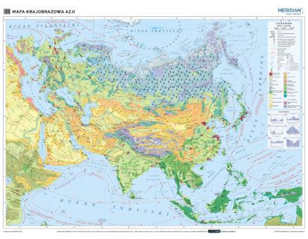 Azja - mapa krajobrazowa