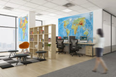 Mapy Świat fiz i Afryka polit Biuro