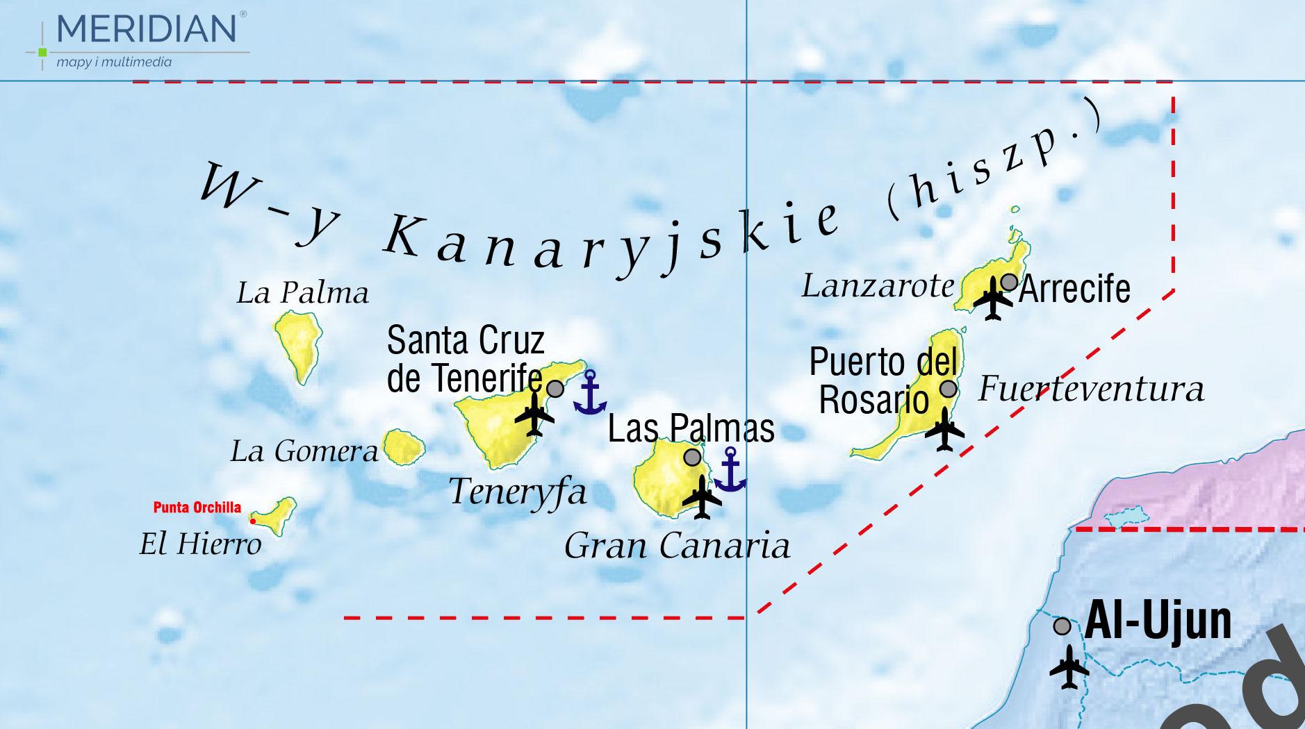 Wyspy kanaryjskie mapa 2