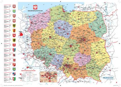Kalendarz Mapa Polski adm drogowa i wojew